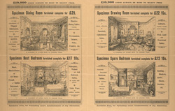 Advert for the Wittam Furnishing Company, reverse side